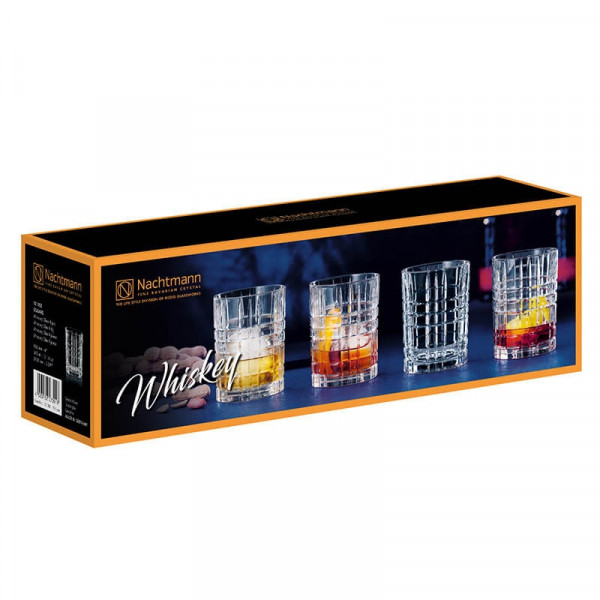 Nachtmann Square Whiskey Glas, 4er-Set