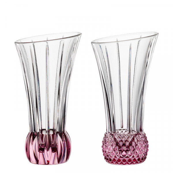 Nachtmann Spring Table vases rosè, set of 2, mixed